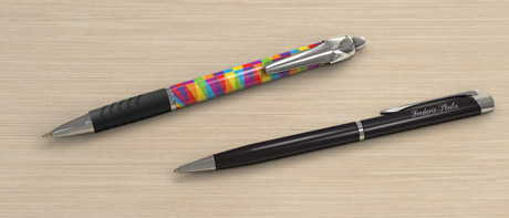 Promotional printed or engraved pens